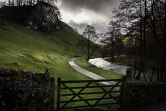 Moody (Phil-Gregory) Tags: nikon d7200 wideangle ultrawide tokina tokina1120mmatx 1120mmproatx11 1120mm hartington milldale river gate green light clouds mood countryside scenicsnotjustlandscapes landscapes peakdistrict ngc