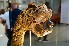 Cat Head (flipperman75) Tags: viking ship museum oslo norway wood carving cat