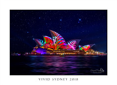 Sydney Opera House illuminated with beautiful vibrant imagery at night (sugarbellaleah) Tags: vivid vividsydney sydney sydneyoperahouse illuminated light festival evening colours vibrant city urban sydneyharbour circularquay graphics motion water harbour travel tourism event entertainment display show