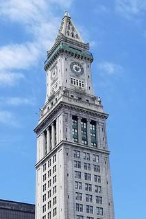 Custom House Tower with clouds