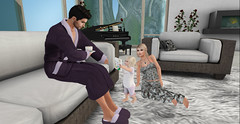 Happy Fathers Day 3 (Just1sarah) Tags: fathersday father fathers day family toddleedoo sl second life baby toddler pose photography posing danu