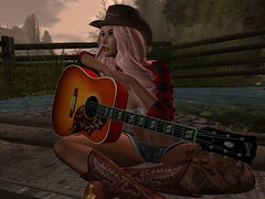 Thinking (kittybaby44) Tags: mickey minnie message secondlife sl breakup brokenheart healing thinking movingon promises love lovestory stillloveyou loveyouforever heart cowgirl guitar boots hat beautiful separation relationship forever life