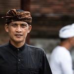Balinese man in traditional Batik Udeng headdress. thumbnail