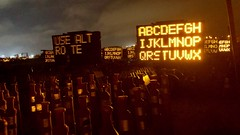 do not resist, you mustn't resist (killyourcar) Tags: inanimateobjects message text glow solar highwaysigns signs artificialintelligence ai technology future dystopia dystopian