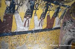 Hieroglyps (konde) Tags: tt218 deirelmedina tt219 newkingdom tt220 19thdynasty tomb hieroglyphs ankh ancientegypt luxor thebes art deities goddess isis nephthys nut selket