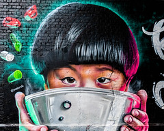 London   |   Behind the Noodle Bowl (JB_1984) Tags: mural painting art artwork streetart graffiti woskerski wagamama shakespearesglobe bricks brickwork wall bankside southwark londonboroughofsouthwark london england uk unitedkingdom nikon d500 nikond500