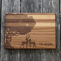 Tree with Deer Personalized Cutting Board (globalepro) Tags: cuttingboard personalized personalizedcuttingboard personalizedgift
