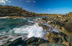 Watching the Waves (tquist24) Tags: atlanticocean nikon nikond5300 usvirginislands virginislands beach clouds geotagged island longexposure ocean rock rocks seascape sky tropical water wave waves stthomas