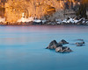 Warm and Cold (andrewpmorse) Tags: brucepeninsula brucepeninsulanationalpark ontario canada sunset nationalpark nationalparks spring cliffs longexposure water lake lakehuron telephoto reflectedlight canon 70200mmf28lii leefilters leelittlestopper canon5dmarkiv 5div