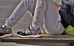 Adidas Adiprene+ (Skinny Guy Lover) Tags: outdoor people candid guy man male dude adidas adidasshoes sitting sit seated adidasadiprene adiprene shoes