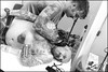 (Hypergraphia) (Robbie McIntosh) Tags: leicam9p leica m9p rangefinder streetphotography 35mm leicam summicron leicasummicron35mmf20iv blackandwhite bw biancoenero bn monochrome summicron35mmf20iv autaut tattoo bodyart candid ink