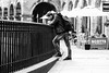 Ponder (Cycling Road Hog 2018) Tags: blackwhite candid citylife colour edinburgh man mobile monochrome people phone places scotland street streetphotography streetportrait urban