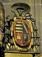 Astorga (León-España). Catedral. Capilla del Santísimo y la Majestad. Retablo. Escudo del obispo Alfonso Mexía de Tovar (santi abella) Tags: astorga león castillayleón españa catedraldeastorga heráldica escudos retablos