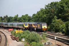 One Up and One Down, Filton Abbey Wood, Filton, Gloucestershire (Kev Slade Too) Tags: 43301 britishrailways class43 hst crosscountrytrains bombardier voyager dmu iv50 filtonabbeywood bristol gloucestershire