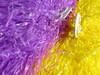 Pom pom (Claire Wroe) Tags: paper pom pompom yellow purple support fan football manchester goals plastic white supporter game footie match charity collyhurst handle