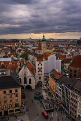 Sunset in Munich (Jim Nix / Nomadic Pursuits) Tags: europe germany jimnix lightroom luminar macphun marienplatz munich nomadicpursuits sony sonya7ii aerial cityscape sunset travel view