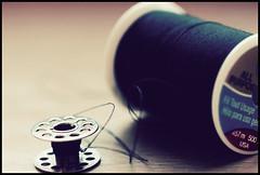 Two Spools   @ Thread (Sarah_ES) Tags: macromademoiselle cottonthread spools blue round