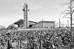 DSC_5741-2 Parkplatz für Fahrräder am Bahnhof von Venlo; das Empfangsgebäude entstand 1958 - Architekt  Koen van der Gaast. (stadt + land) Tags: parkplatz fahrräder bahnhof empfangsgebäude erbaut entstand 1958 architekt koen gaast bilder eindrücke venlo stadt maas niederlande grenzstadt gemeinde niederländisch privinz limburg grenze deutschland einkauf cannabis cofeeshop handelsort mittelalter hansestadt hanse mitglied neuehanse