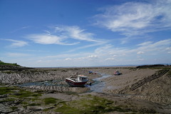 Summer Streams (JamieHaugh) Tags: clevedon north somerset england uk gb great britain sony a6000 zeiss alpha ilce6000 color colour summer day sky clouds blue mud brown boats stream river sunshine horizon landscape seascape seaside coast harbor harbour water outdoors