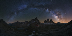 Trecime´s Magic (Iván F.) Tags: trecime italy italian dolomiti mountain night nightout star milky milkyway arch longexposure travel tourism sonya7r europe sony explore explorer exploration