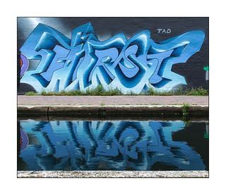 Graffiti (Lovepusher), East London, England.