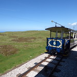 Great Orme Tramway - tram up from Halfway to the Summit Station - tram 6 - St Seiriol thumbnail
