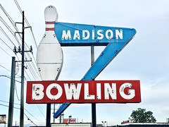 """Fantasy Lanes"" (Halvorsong) Tags: signs neon neonsigns america americana art photography composition old oldschool classic vintage weathered bowling roadside roadtrip street streetphotography signage city urban explore discover the50s thefifties wow fifties halvorsong"