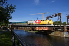 The big 40 (Michael Berry Railfan) Tags: via916 via22 viarail via40 train passengertrain ge generalelectric genesisseries p42dc lachinecanal peelbasin montreal quebec sthyacinthesub
