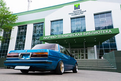 Toyota Cresta (anton_frolov) Tags: car road sign window building russia siberia tomsk toyota sonya65 cresta drift lowrider composition stairs tuning jdm