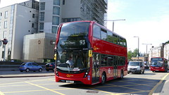 Delivery Trip (londonbusexplorer) Tags: goahead london adl enviro 400 mmc hybrid eh299 yx18kxm 93 putney bridge north cheam swiss cottage delivery tfl buses