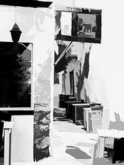 0975SETSL  Simply Naxos (foxxyg2) Tags: mono monochrome bw blaxkwhite art topaz topazsoftware topazstudio niksoftware silverefex minimal minimalist impressionist restaurant taverns greece greekislands islandhopping islandlife naxos cyclades