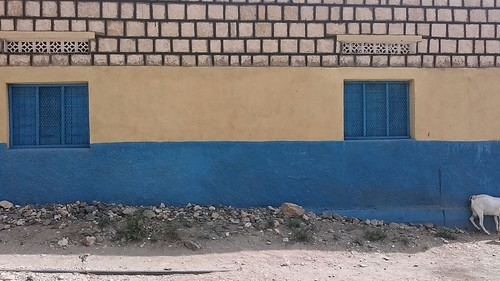 Side view of the house in Borama