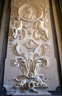 Genova, Piazza De Ferrari 4, Palazzo Doria De Fornari, Stuck (stucco) (3)