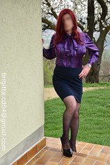 Multicolour blouse with detachable jabot (brigitta.cd) Tags: