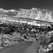 A Panoramic View to the Waterpocket Fold in Capitol Reef National Park (Black & White)