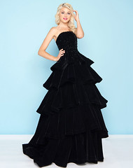 Ruffled Straight Across Ballgown 66344H by Mac Duggal (gownsdresses) Tags: ballgowndresses promdresses homecomingdresses cocktaildresses red carpet dresses