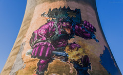 Purple Hulk (igaitansky) Tags: sofia bulgaria 2018 sony a6300 power plant tower purple hulk graffiti photography supersize monster cool muscles