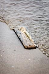 Flotsam (deltic17) Tags: sea ocean flotsam jetsam wood elizabethdane tide northsea canon f2 prime lincs lincolnshire
