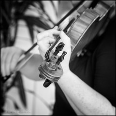 Pre-work practice (G. Postlethwaite esq.) Tags: bw baroque dof blackandwhite bokeh bow depthoffield monochrome musicalinstrument photoborder practice selectivefocus violin violinist vonbiber squareformat wifey