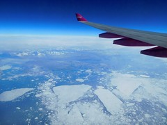 WW162 SFO-KEF 7/20/2017 (kenjet) Tags: wow wowair inflight aerial view aerialview windowseat fromthewindow flight ice greenland artic snow glacier glaciers wing winglet wingtip purple airbus a333 333 a330343x 9vstj tfgay