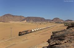 Aqaba Railway Corporation 301 + 310 Ad-Disa (OliverHeckmann) Tags: jordanien jordan arc aqaba railway corporation phosphatzug phosphate train ge u20c general electric eshidiya addisah