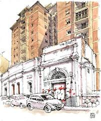 Málaga, calle Don Cristián nº 37 (Luis_Ruiz) Tags: urban sketchers decay architecture malaga andalusia spain ruin dibujo drawing sketch sketchbook
