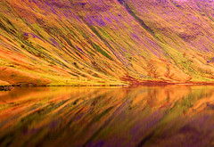 Reflections (Wildlife & Nature Photography) Tags: reflections tarn lakedistrict england uk nature outdoors stickletarn lake colour mountain winter abstract cumbria landscape purple orange britain europe hike lakeland canon 300d canon300d