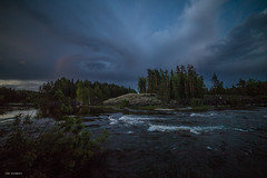 summer night in finland (sami kuosmanen) Tags: suomi sky summer nature north night europe exposure expression emotion eerie creative clouds camping yö luonto light landscape cloud pilvi joki river