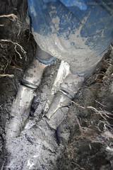 Muddy work (MudboyUK) Tags: muddyboots boots rigggerboots workboots hdriggers hdboots hdriggerboots workinginboots builder tradie diging menwearingboots mud dirtyboots workie