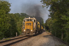 SU-99 in Stockholm - 6/01/2018 (John McCloskey Jr.) Tags: nysw csx trains emd gp402 sd60 sd45 sd452 new jersey susquehanna outdoors green golden hour trees transportation york ny sussex county nature