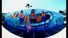 Los Pobres Artistas Collective; Oakland Mural Festival (samayoukodomo) Tags: drone dronephotography aerialphotography aerialview quadcopter takingthedroneouttogethigh djimavicpro mavicpro streetart muralart publicart jacklondonsquare oaklandart bayareamuralfestival dronepointofview birdseyeview droneview aerial