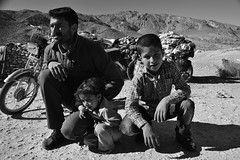 Iranian nomads (matthewlamery) Tags: iran iranian persia persian nomad nomads nomadic family motorbike blackandwhite mountains countryside rural traditional middle east asia middleeast