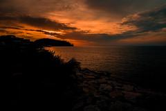 Orange is the new black.... (Dafydd Penguin) Tags: sunset sun sea water orange black island isola ischia naples bay coast coastal coasting view italy leica m10 elmarit 21mm f28