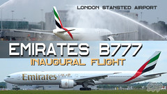 Emirates Graphic (bananamanuk79) Tags: planewatch pictures aviation airplane airport london flying flight runway air travel transport pilot avgeek airways takeoff departure flyer vehicle outdoor airliner jet jetliner flyers travelling holiday jumbo logo livery painted airplanes aicraft photos airline airliners airlines planespotter wow plane stansted emirates emiratesairlines firstflight inaugural boeing777300 emiratesstansted